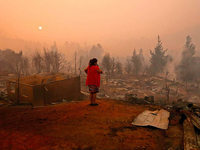 Fotos: Waldbrände in Chile breiten sich aus