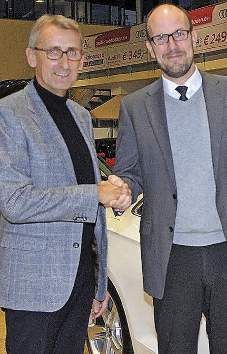 Stiftungsratsvorsitzender Armin Schuster (links) und Lieven van der Hoofd   | Foto: privat