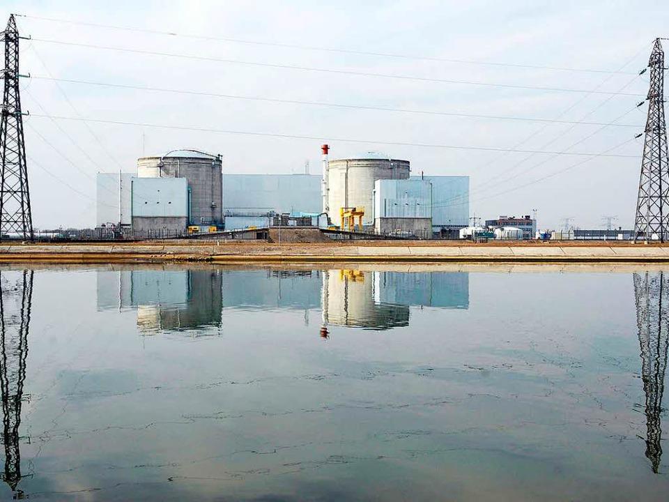Wird das Kernkraftwerk in Fessenheim a... französischer Seite ist man dagegen.   | Foto: dpa