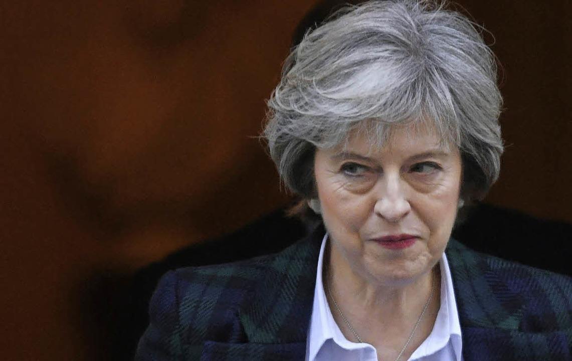 Theresa May freut sich auf die Zusammenarbeit mit Donald Trump.    Foto: dpa