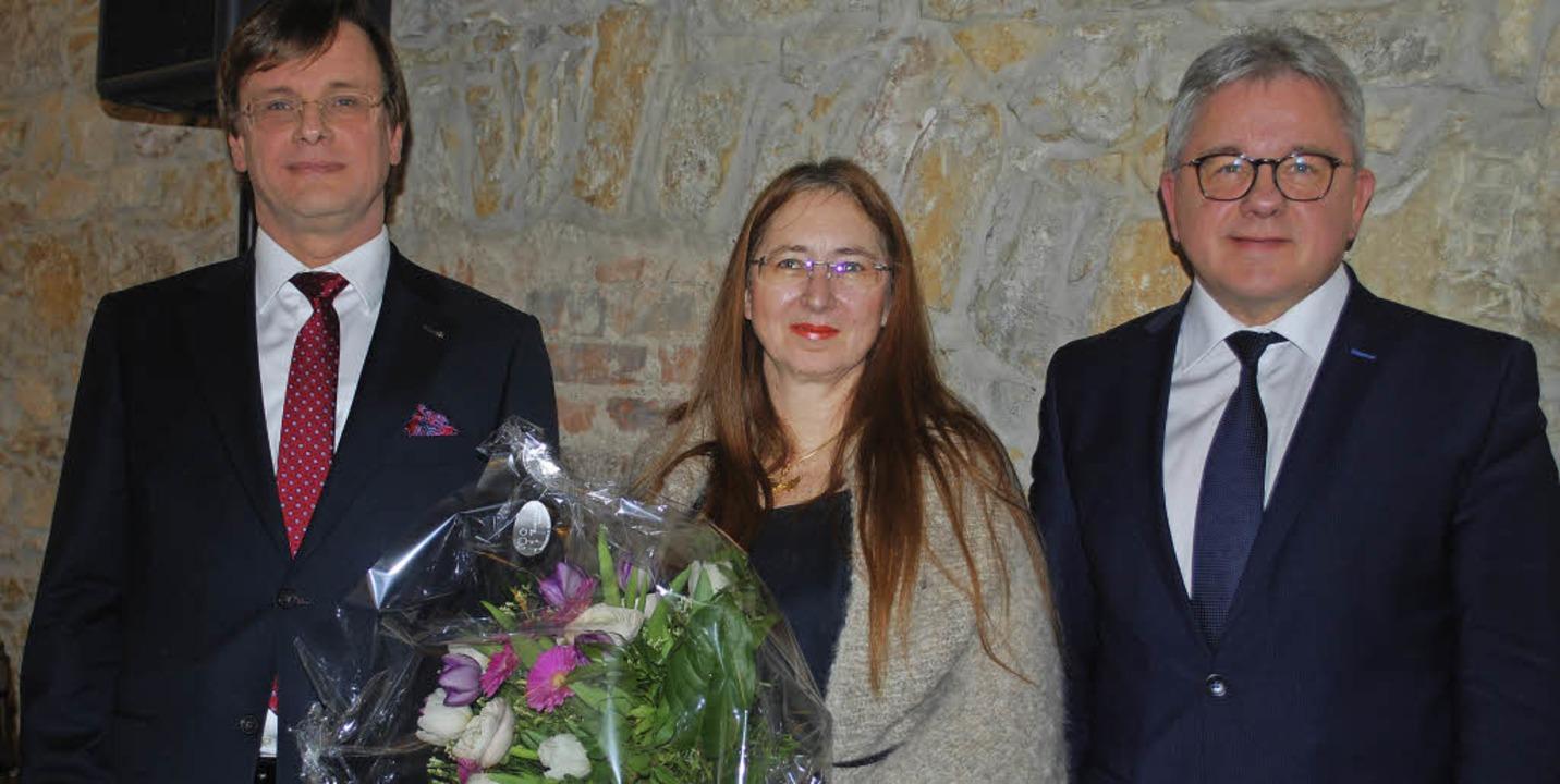 Der neue Leitende Oberstaatsanwalt Fra...usanne und Justizminister Guido Wolf.   | Foto: Thomas Loisl Mink