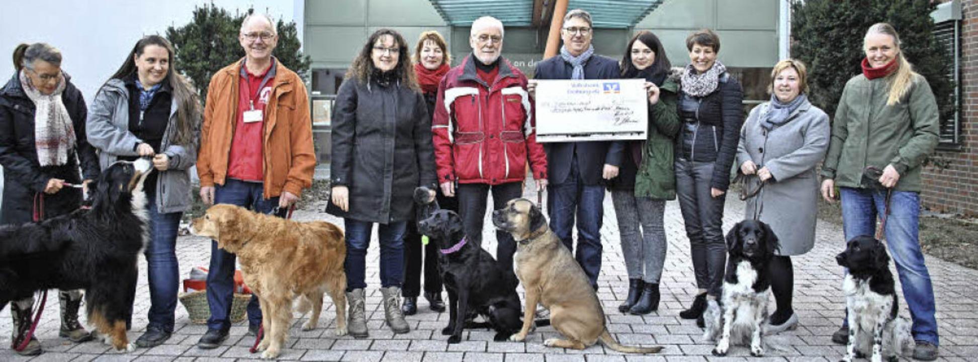 Sie helfen heilen (v. li.): Inge Grund...it Money, Patricia Hansert mit Bente.   | Foto: rob
