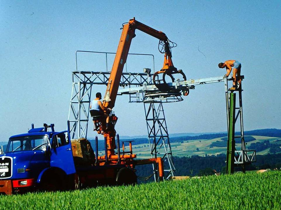 Im Sommer 1987 wurde von den Vereinsmi...er Schlepplift aus Bayern installiert.  | Foto: privat