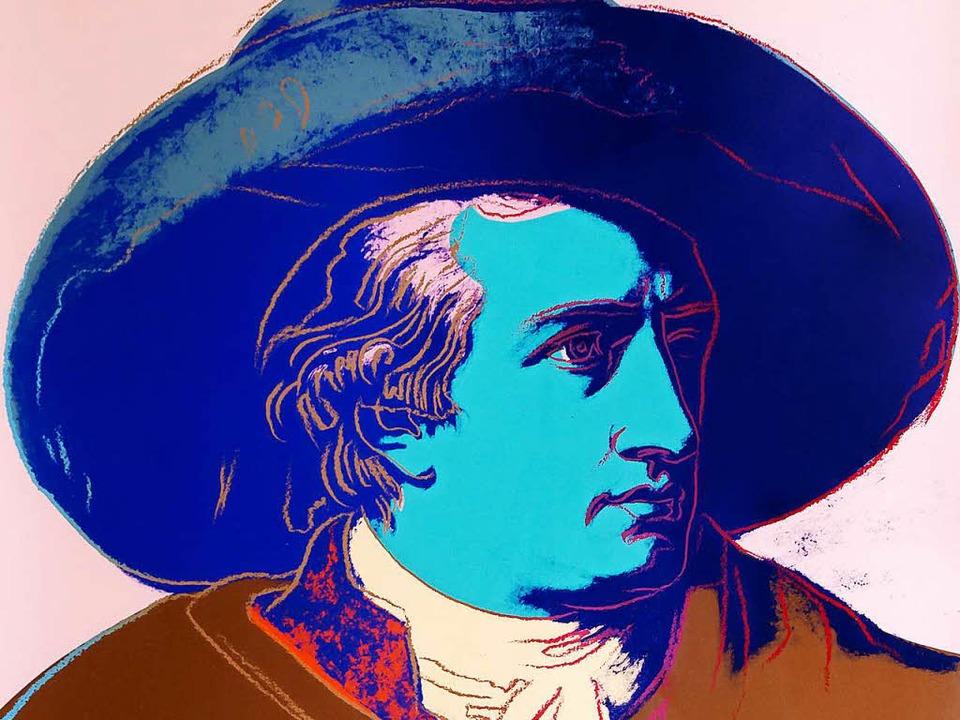 Goethe zahlte keine Rentenversicherung...bzeiten (1749–1832) noch nicht.   | Foto: Warhol Foundation