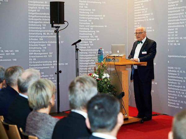 WVIB-Präsident Klaus Endress bei seiner Rede