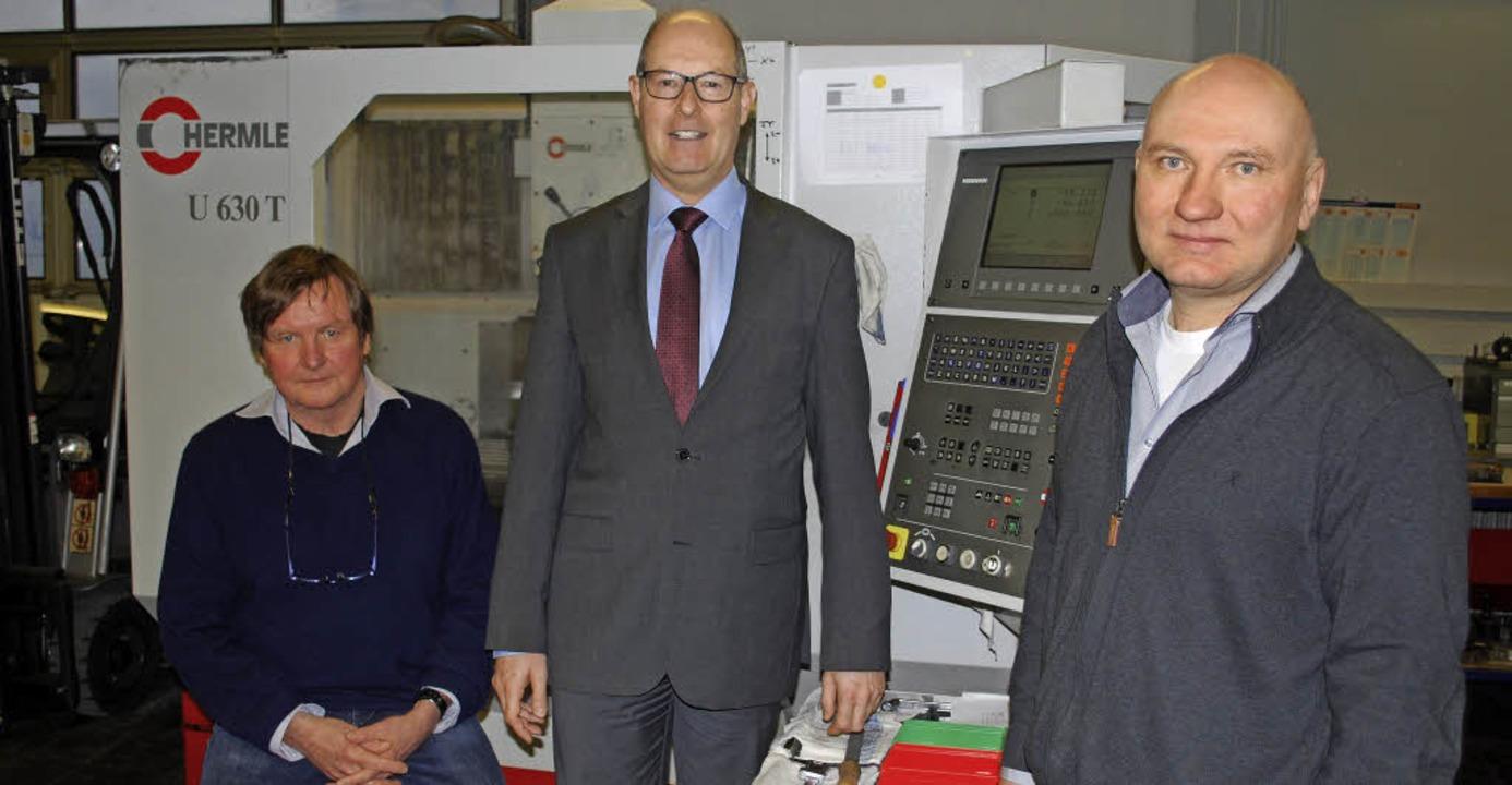 Manfred Grupp, Dirk Werner und Norbert...gegen Langzeitarbeitslosigkeit voran.   | Foto: Thomas Loisl Mink