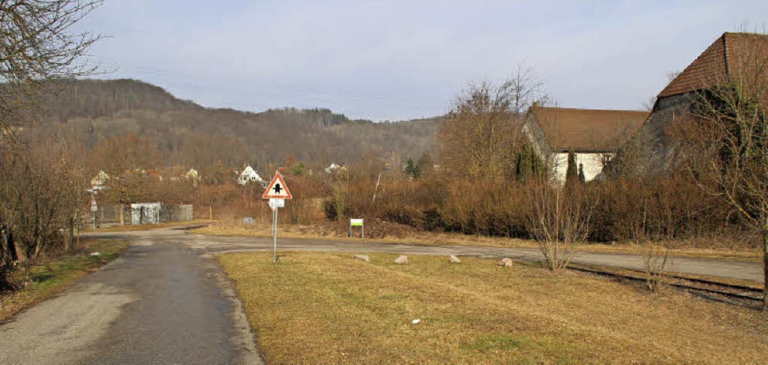 Dass Lkw die  Spitzkehre zum Standort ...llung des Bebauungsplans beschlossen.   | Foto: Rolf Reißmann