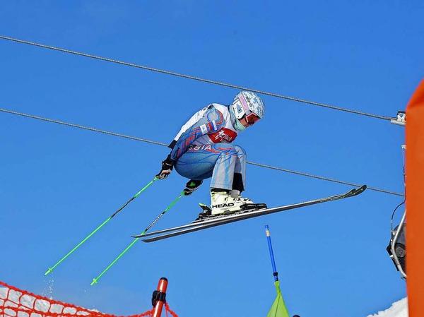 Skicross am Feldberg.