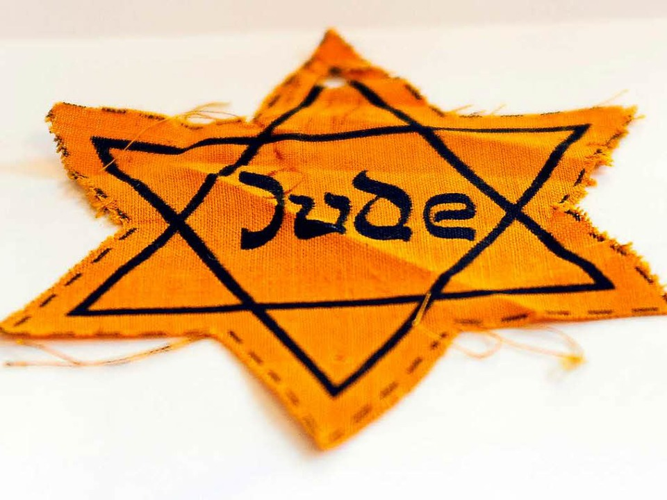 """Der sogenannte """"Judenstern"""" ...litischen Religionsgemeinschaft Baden.    Foto: Ingo Schneider"""