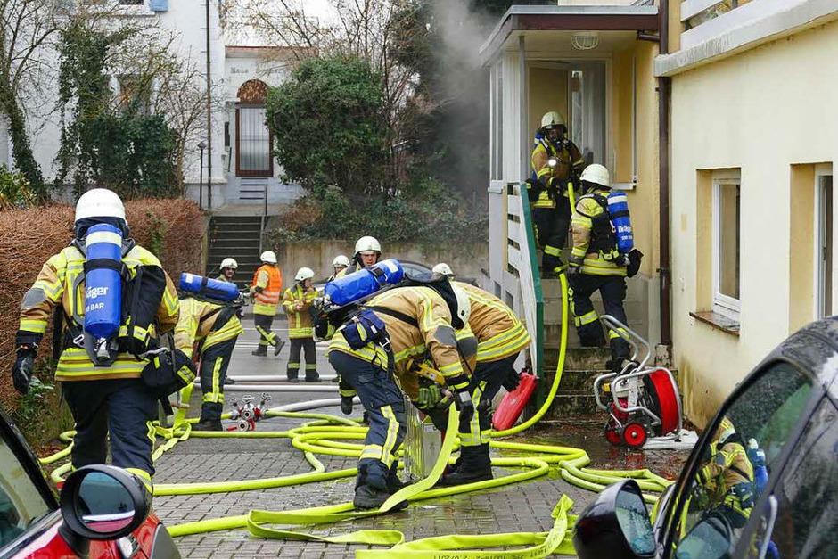 Der Brand war schnell unter Kontrolle. (Foto: Hans-Peter Müller)