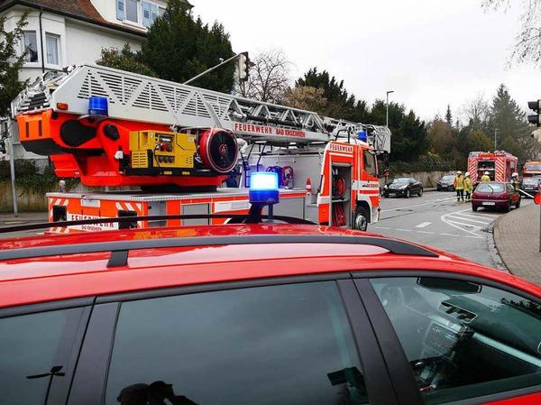 Der Verkehr an der Kreuzung Basler Straße/Freiburger Straße/Staufener Straße war beeinträchtigt.