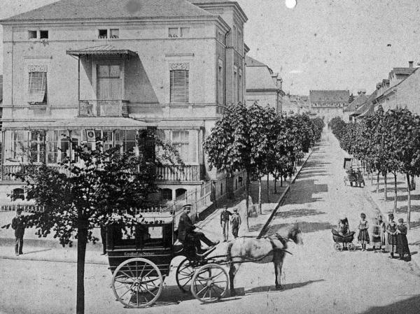 Schillerstraße, Haus-Nr.  22 um 1880