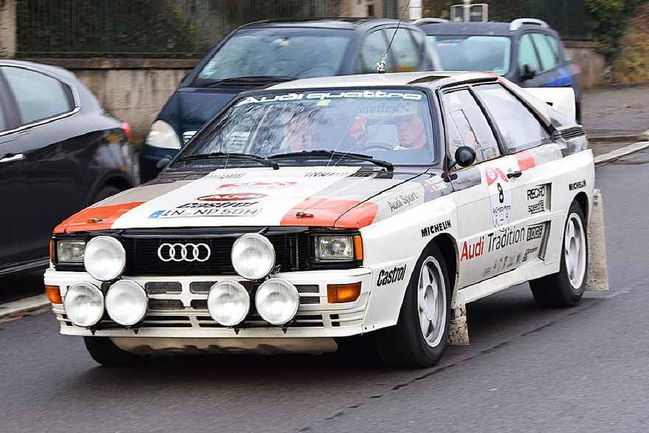 Der frühere Rallye-Weltmeister Walter Röhrl nimmt mit einem Audi Quattro A2 teil. (Foto: Frank Schoch)