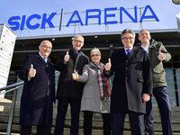 """Halle 4 der Messe heißt jetzt """"Sick-Arena"""""""