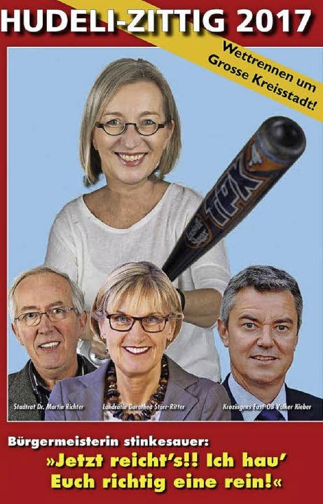 Mutti Astrid schwingt die Keule: Klar,...die Kommunalpolitik nicht zu kurz kam.  | Foto: Hudeli