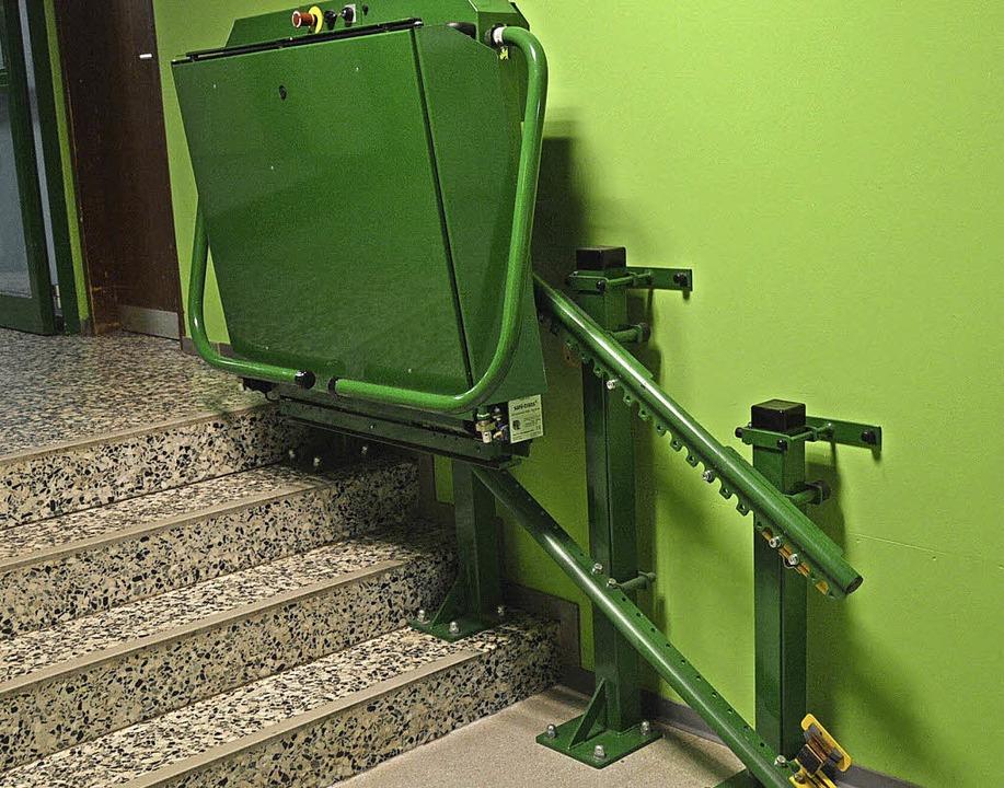 Treppenlift  für Kinder mit Behinderung  | Foto: Horatio Gollin