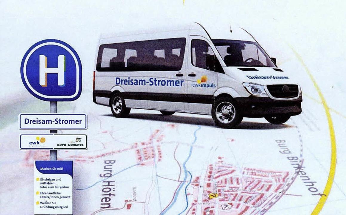 Am 13. März soll der Bürgerbus in Kirchzarten starten.    | Foto: Grafik: Saumer