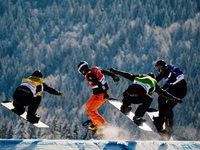 Fotos: Erster Weltcup der Snowboardcrosser am Feldberg