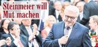 Neuer Bundespräsident: Steinmeier will Mut machen