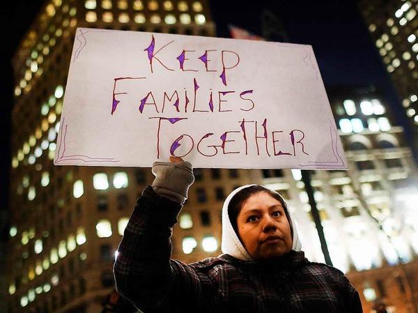 Die Botschaften der Demonstranten sind deutlich.