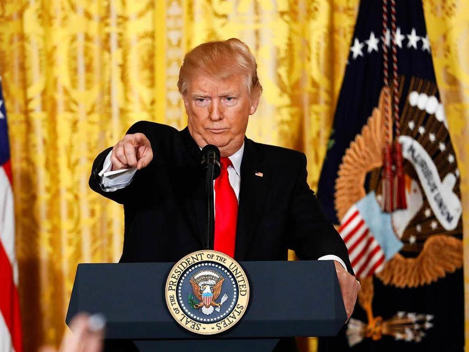 Donald Trump konnte sich bislang auf d... Nachrichtensender Fox News verlassen.  | Foto: dpa