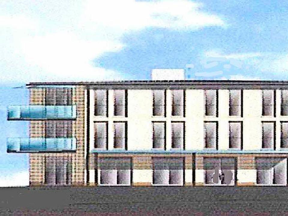 So soll das neue Gebäude einmal aussehen (Teilansicht).  | Foto: Architekt