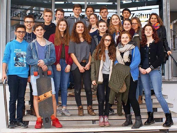 Klasse 9b des Theodor-Heuss-Gymnasiums aus Freiburg
