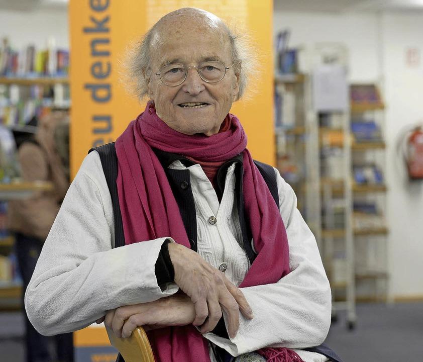 Otto Herz in der Freiburger Stadtbibliothek  | Foto: ingo schneider