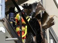 Fassadenbrand an der Hauensteinstraße