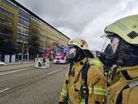 Fotos: Brand im Solar-Info-Center in Freiburg