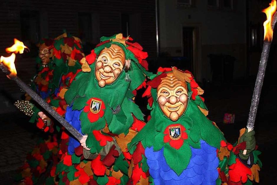 Die Glottertäler Triibl führten den Fackelumzug an (Foto: Gabriele Fässler)