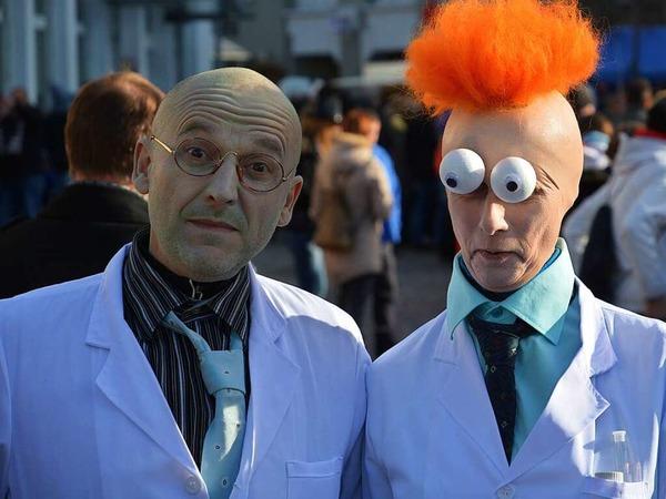 Auch dieses exotische Ärztepaar amüsierte sich.