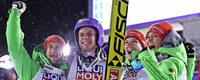 Gold, Silber und Bronze für deutsche Skispringer