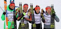 Im Team gibt's Gold für Fabian Rießle