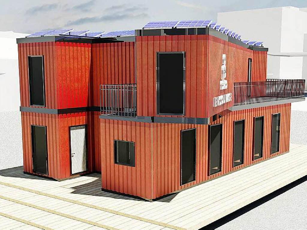 basler bauen recyclinghaus aus schiffscontainern basel. Black Bedroom Furniture Sets. Home Design Ideas