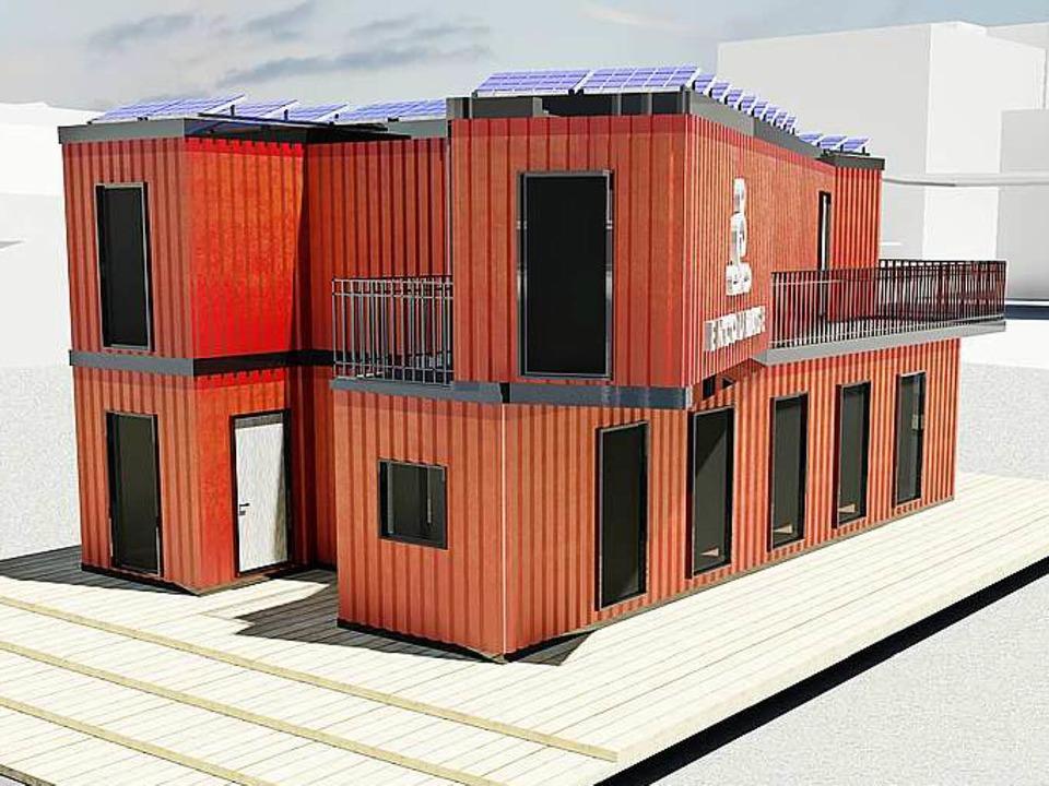 Schiffscontainer Größe basler bauen recyclinghaus aus schiffscontainern basel badische