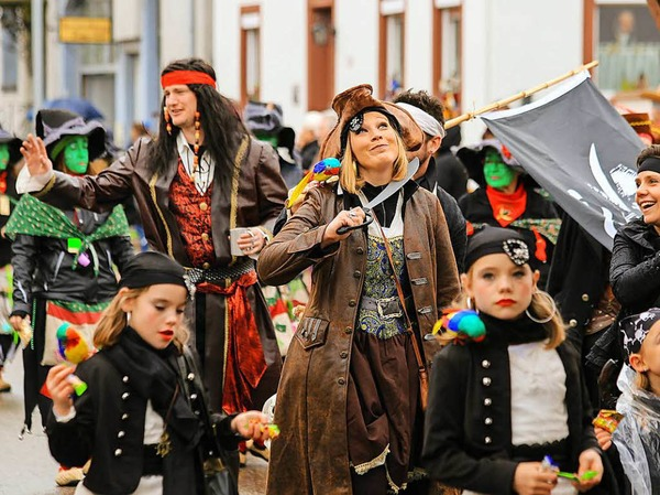 Närrische Stimmung in Grafenhausen: Los Piratos aus Münchweier.