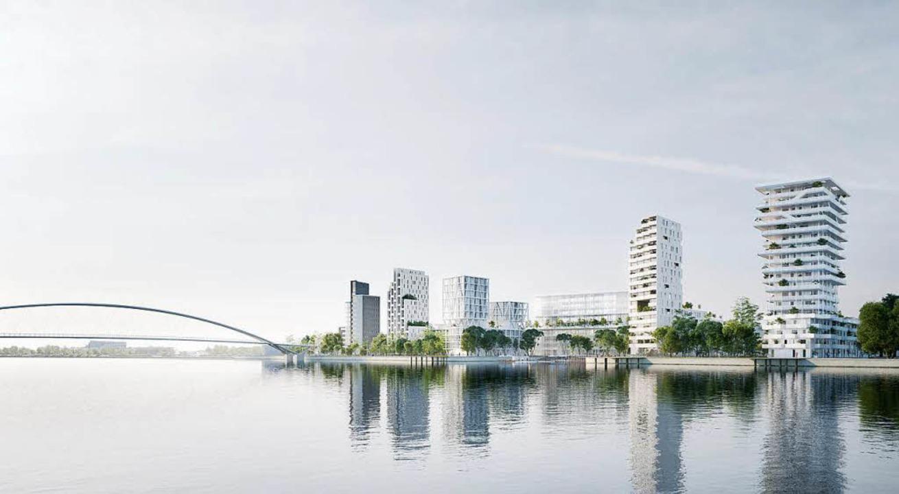 So könnte das bebaute Rheinufer an der...n Jean-Baptiste Pietri einst aussehen.  | Foto: zVg Constructa