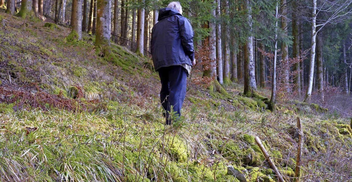 Werner Störk geht den historischen Weg...ein für Stein wurde der Weg aufgebaut.  | Foto: Sattelberger