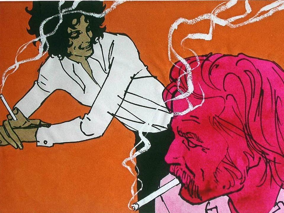 Natürlich ohne Filter: Revalwerbung, i...en Zügen gemalt von Gerd Grimm (1969)   | Foto: jonas-verlag