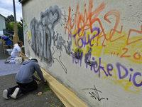 "Trotz ""Solidarmodell Anti-Graffiti"" nehmen Schmierereien zu"