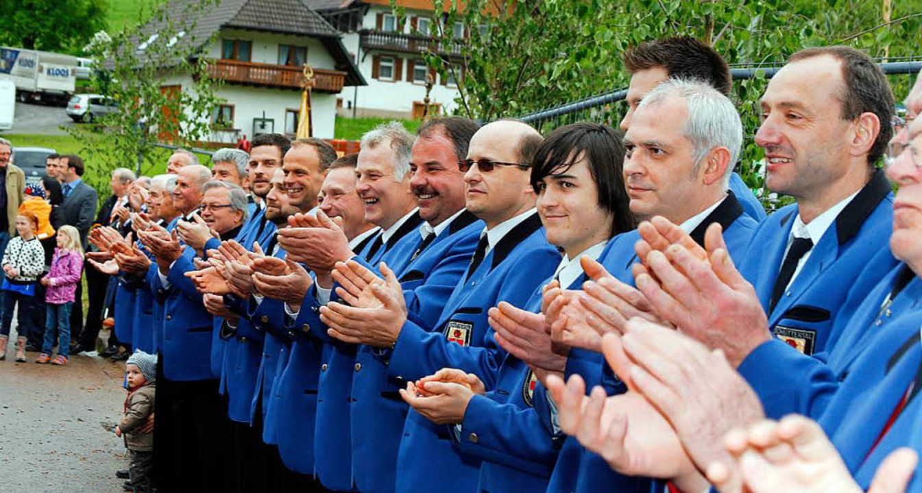 Gute Gründe zu Lachen hatte der MGV be...m Fest zum 125. Jubiläum im Jahr 2013.  | Foto: Heidi Fößel