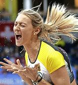 Historisches Gold im Frauen-Dreisprung