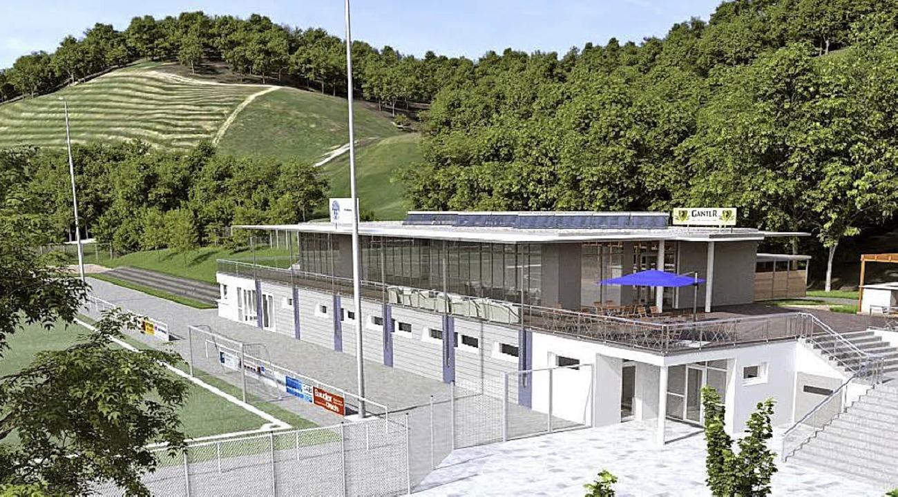 So sieht das Vereinsheim mit der kleinen Photovoltaik-Lösung aus.  | Foto: Imberi