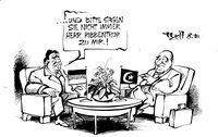 Der türkische Außenminister beim deutschen