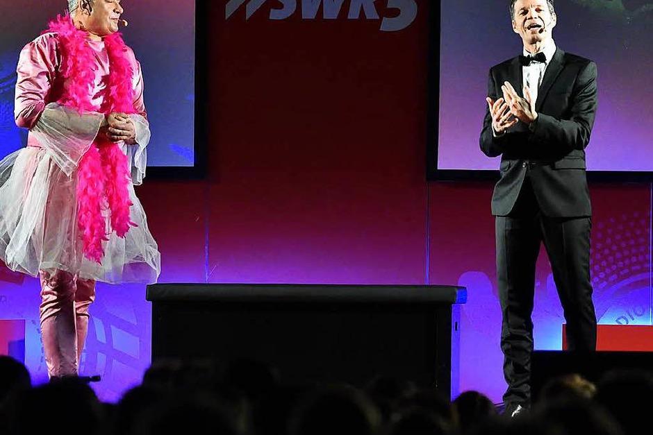 Michael Wirbitzky und Sascha Zeus bei ihrer Show in Titisee. (Foto: Philippe Thines)