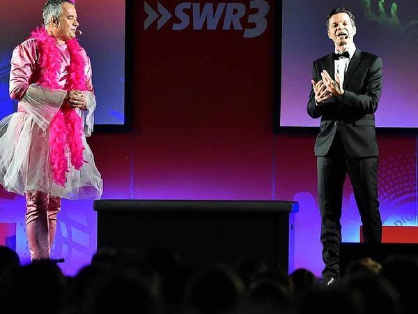 Michael Wirbitzky und Sascha Zeus bei ihrer Show in Titisee.