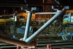 Fotos: Stahlbauteile für die Kronenbrücke werden geliefert