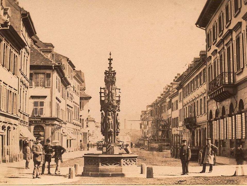 Die Kaiser-Joseph-Straße (damals: Kais...nnen steht heute auf dem Münsterplatz.  | Foto: Augustinermuseum