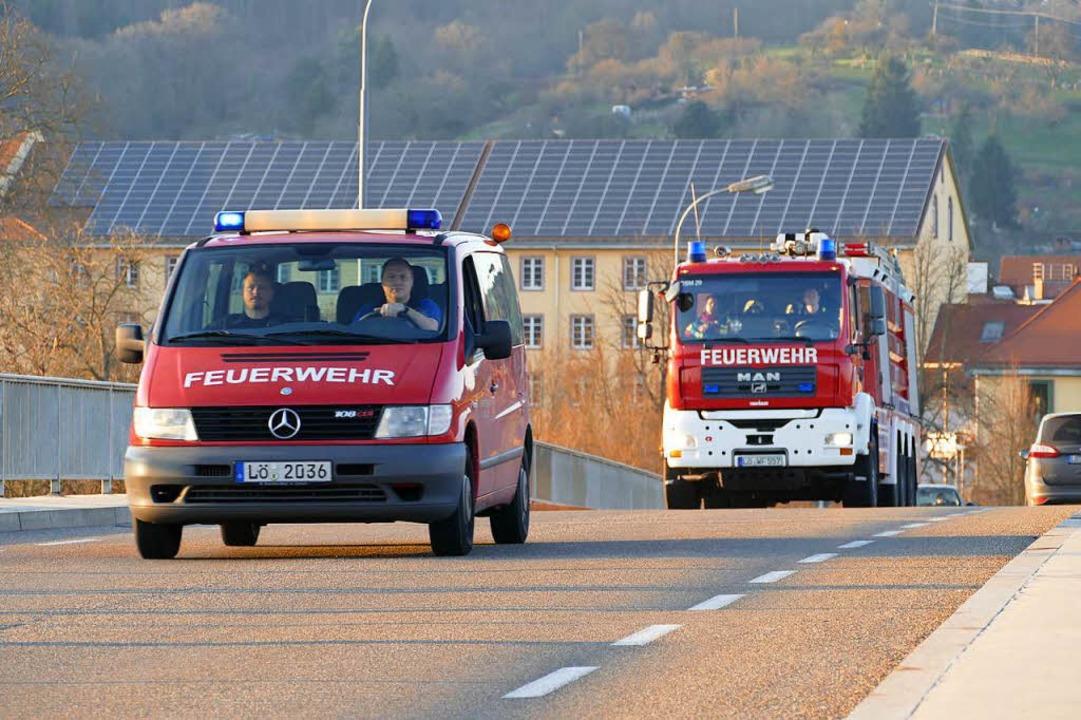 Ein Großaufgebot der Einsatzkräfte war unterwegs.  | Foto: Peter Gerigk
